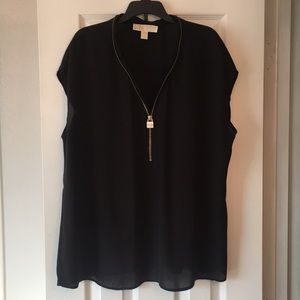 Michael Kors sheer shirt